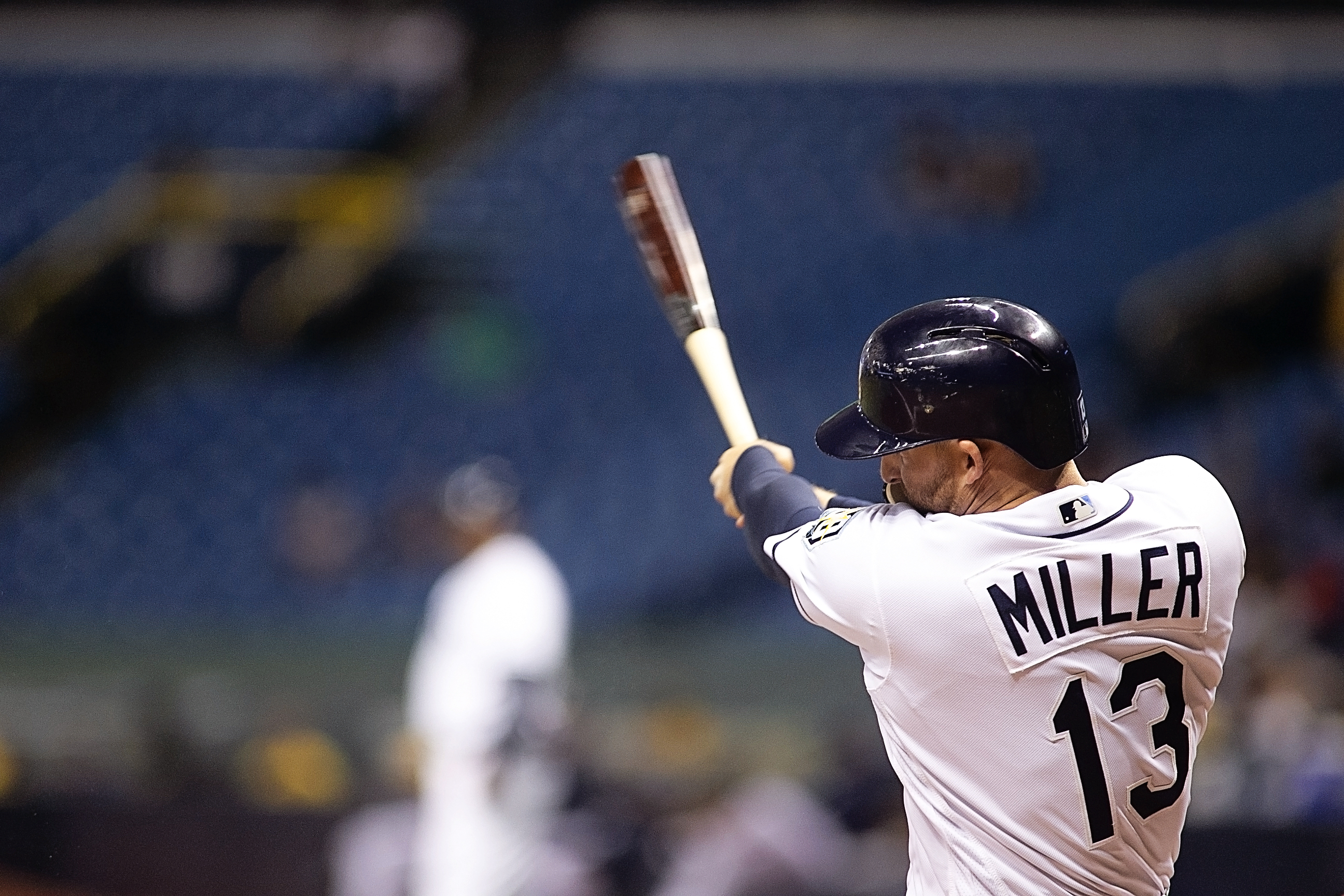 Miller had a pinch-hit double in the ninth inning./CARMEN MANDATO