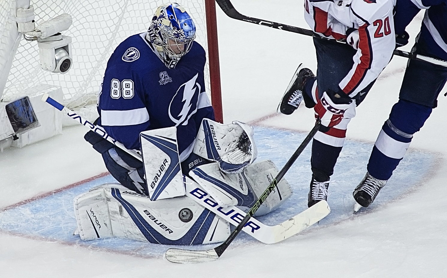 Vasilevskiy starred in net for the Lightning./CARMEN MANDATO
