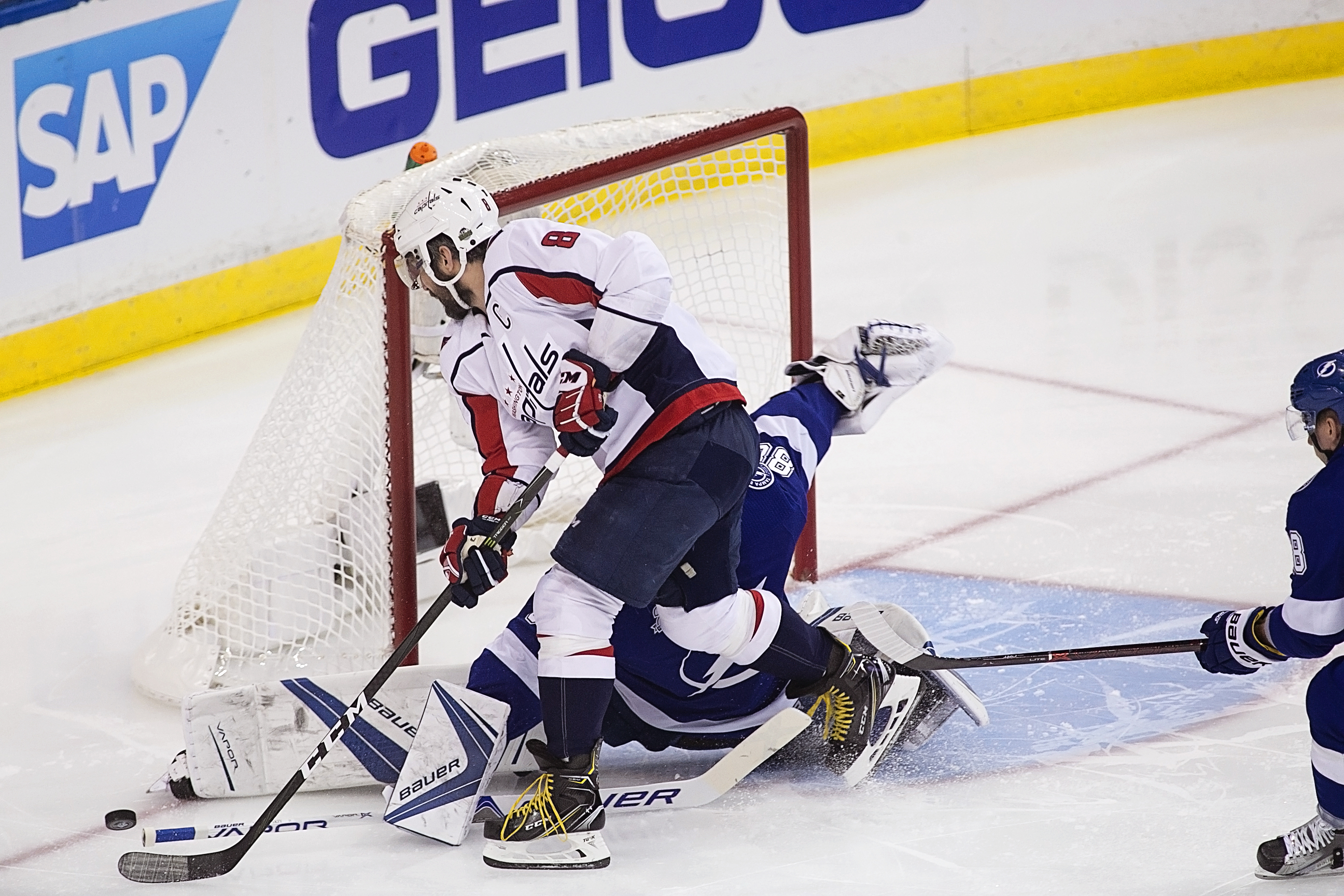 The Bolts shut out Ovechkin./CARMEN MANDATO
