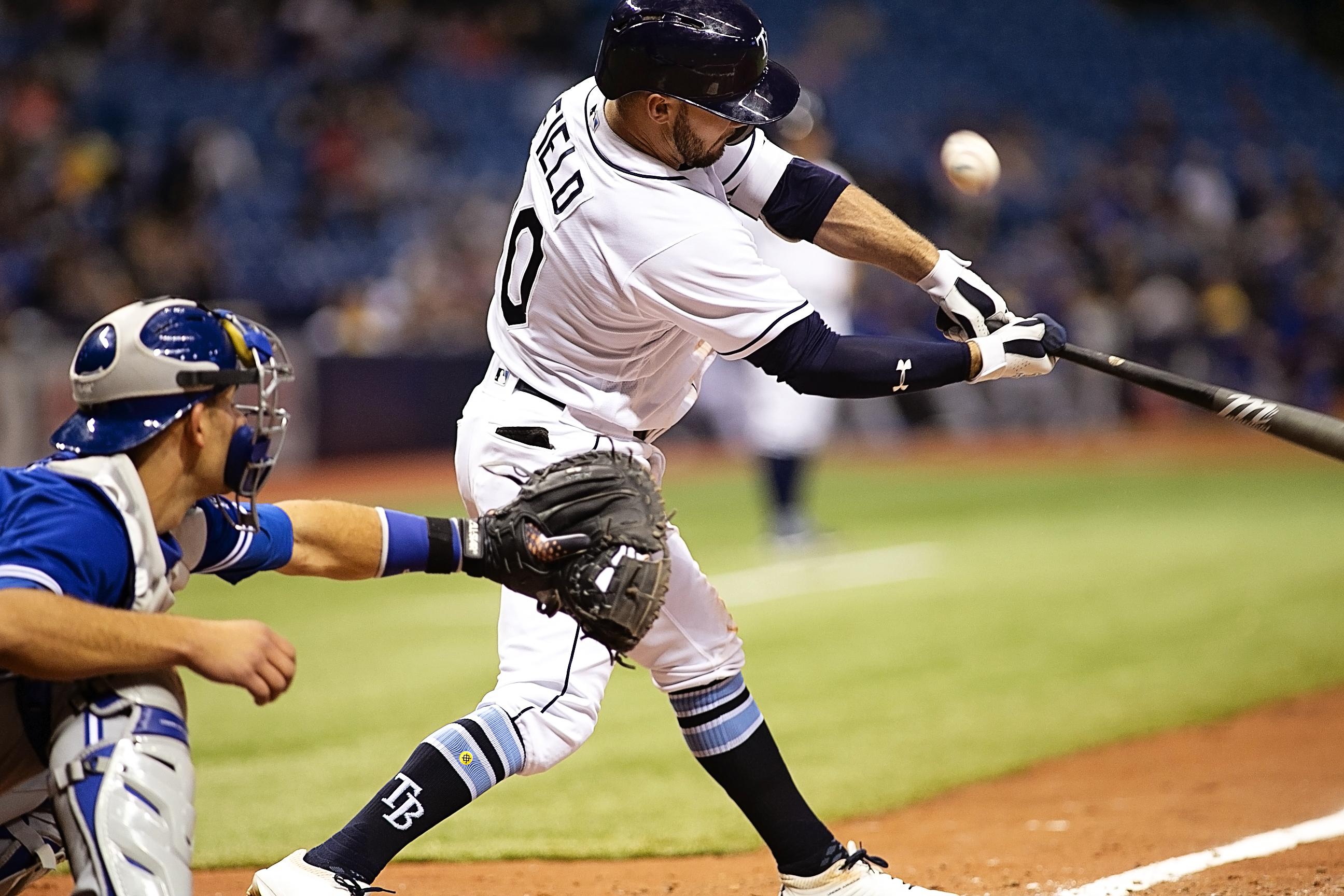 Field had three hits for the Rays./CARMEN MANDATO