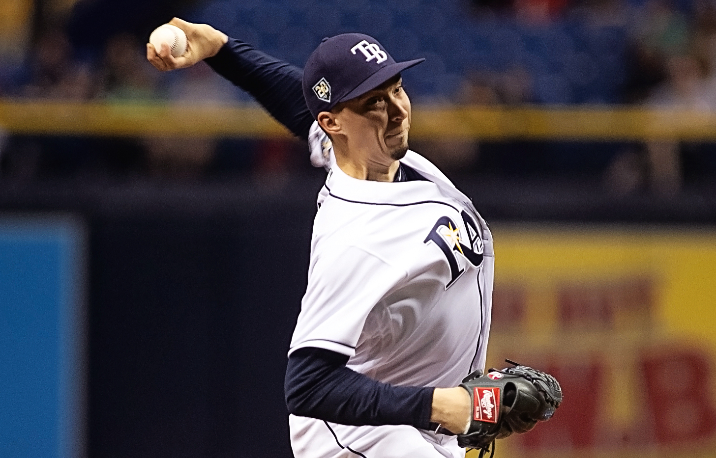 Snell pitched one of his finest games for Rays./CARMEN MANDATO