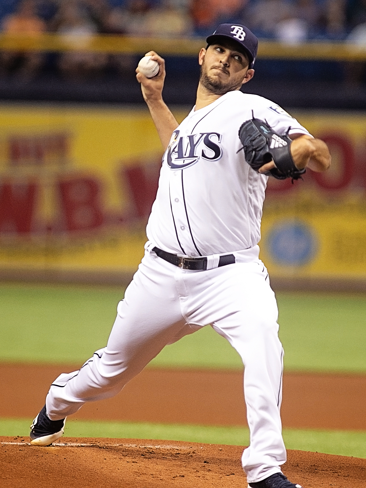 Faria threw three innings for Tampa Bay./JEFFREY S. KING