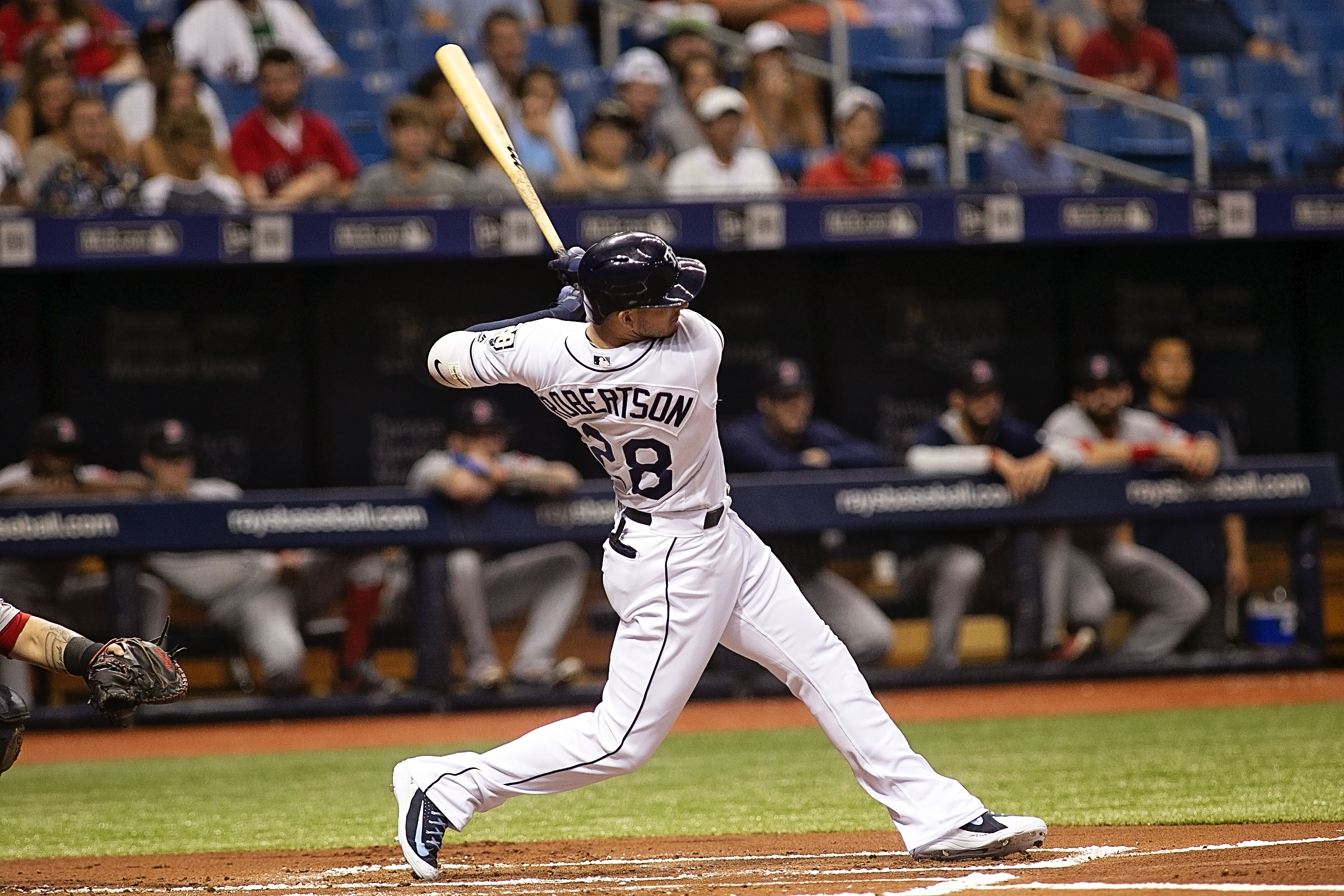 Robertson had two hits for the Rays./CARMEN MANDATO