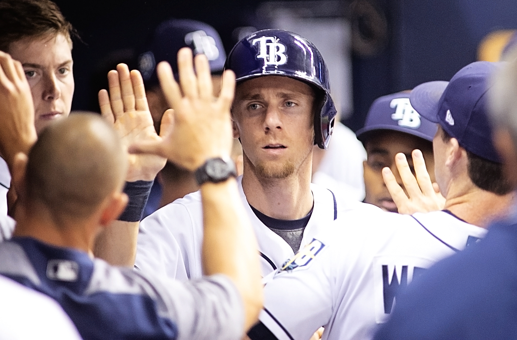 Duffy's home run led to Rays' only score./CARMEN MANDATO