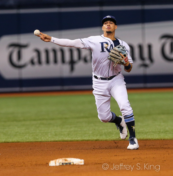 Adames drove in two to help the Rays./JEFFREY S. KING