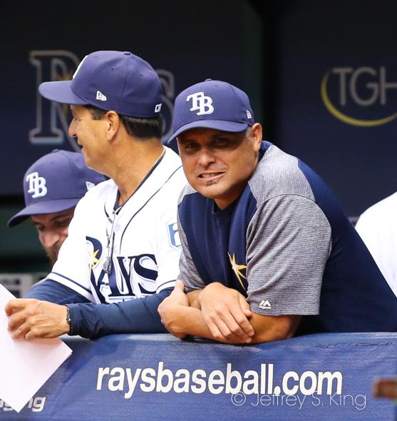 Cash enjoyed seeing the Rays win./JEFFREY S. KING