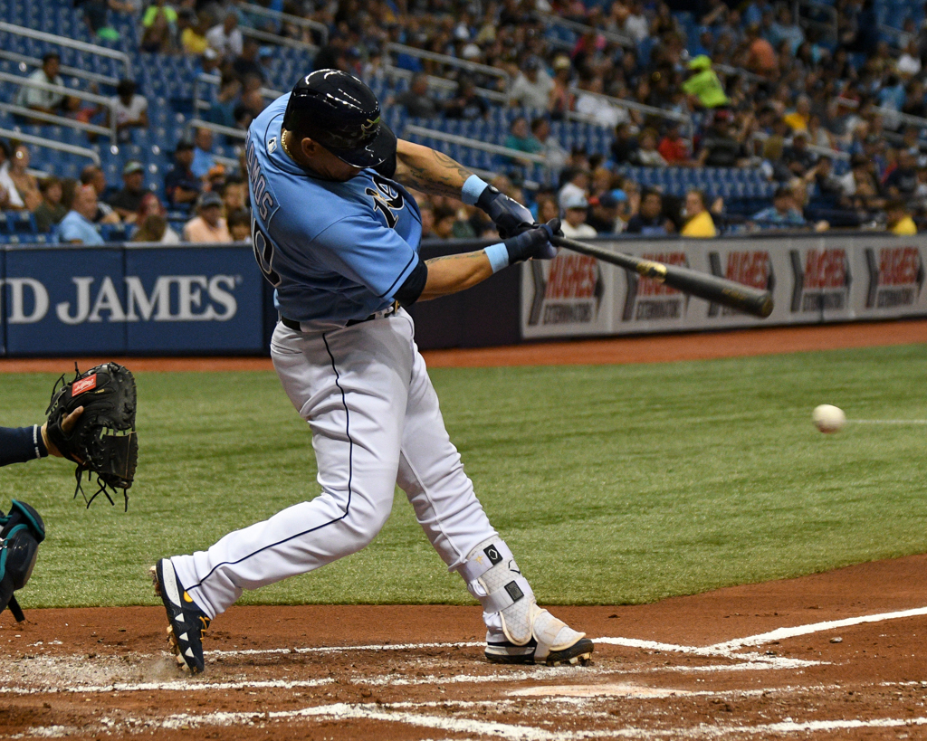 Ramos brought the Rays within one run./JAMES LUEDDE