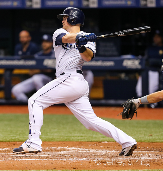 Arroyo also had a single to help the Rays./JEFFREY S. KING