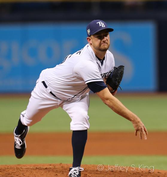 Andrisse threw two shutout innings for Rays./CARMEN MANDATO