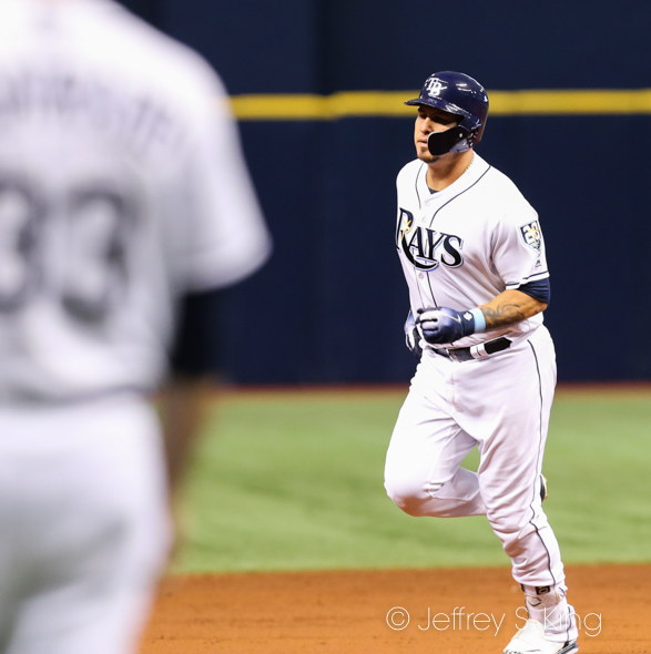 Ramos homered to give the Rays an early lead./JEFFREY S. KING