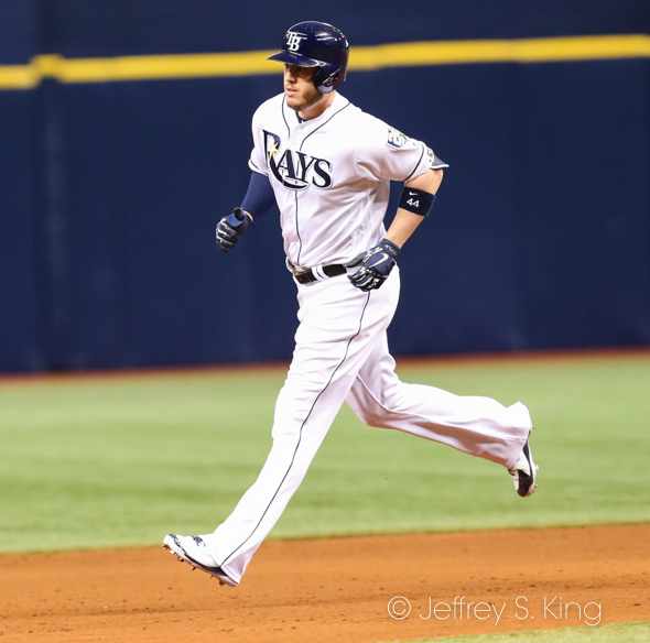 Cron hit his 14th home run of the season./JEFFREY S. KING