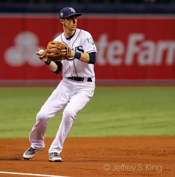 Duffy's home run gave the Rays an early lead./JAMES LUEDDE