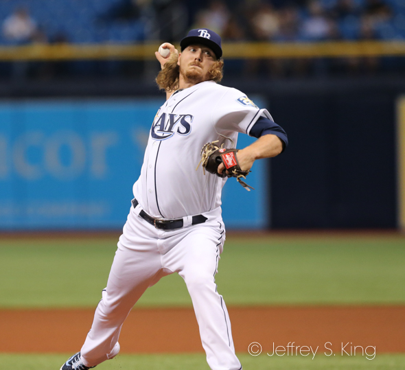 Stanek has started 12 games for the Rays./JEFFREY S. KING