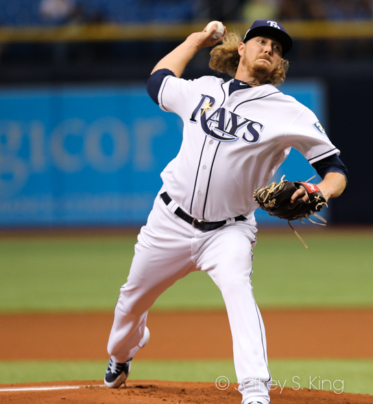Stanek got the Rays' first outs as the opener./JAMES LUEDDE