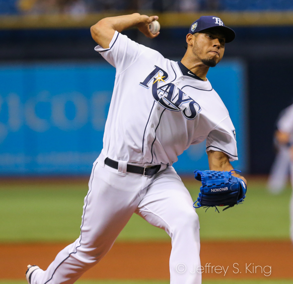 Font took the loss for the Rays./JEFFREY S. KING