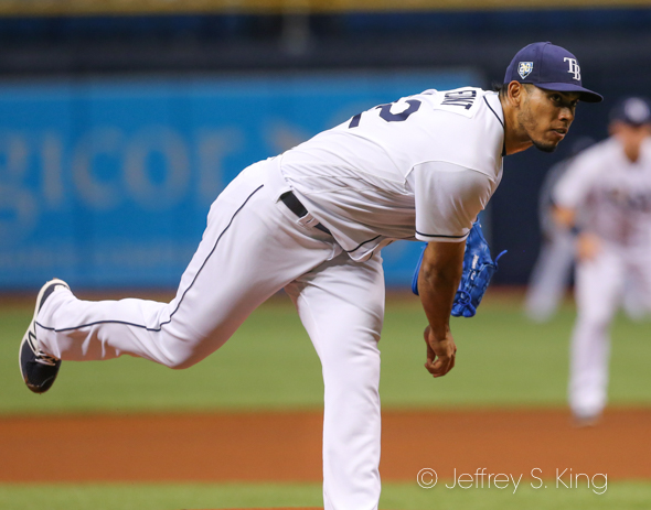Font had his best game for the Rays./JEFFREY S. KING