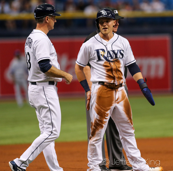 Bauers had three hits for the Rays./JEFFREY S KING