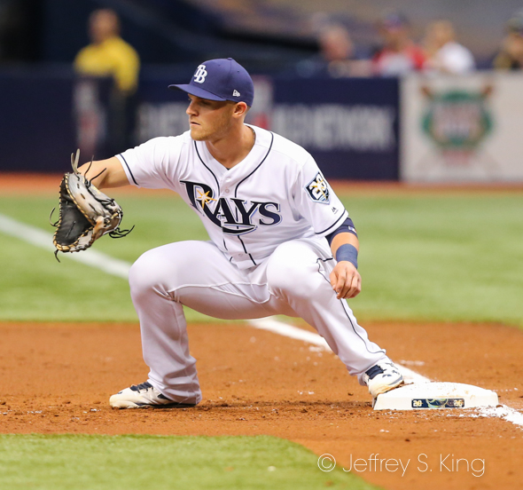 Bauers had four hits for the Rays./JEFFREY S. KING