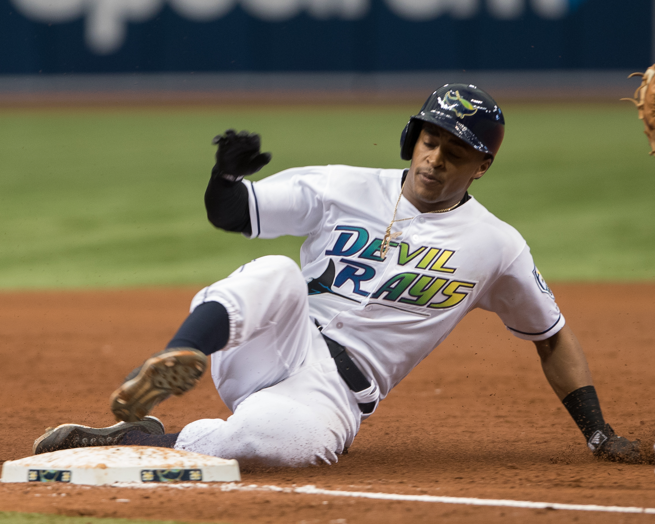 Mallex Smith had three hits for the Rays./STEVEN MUNCIE
