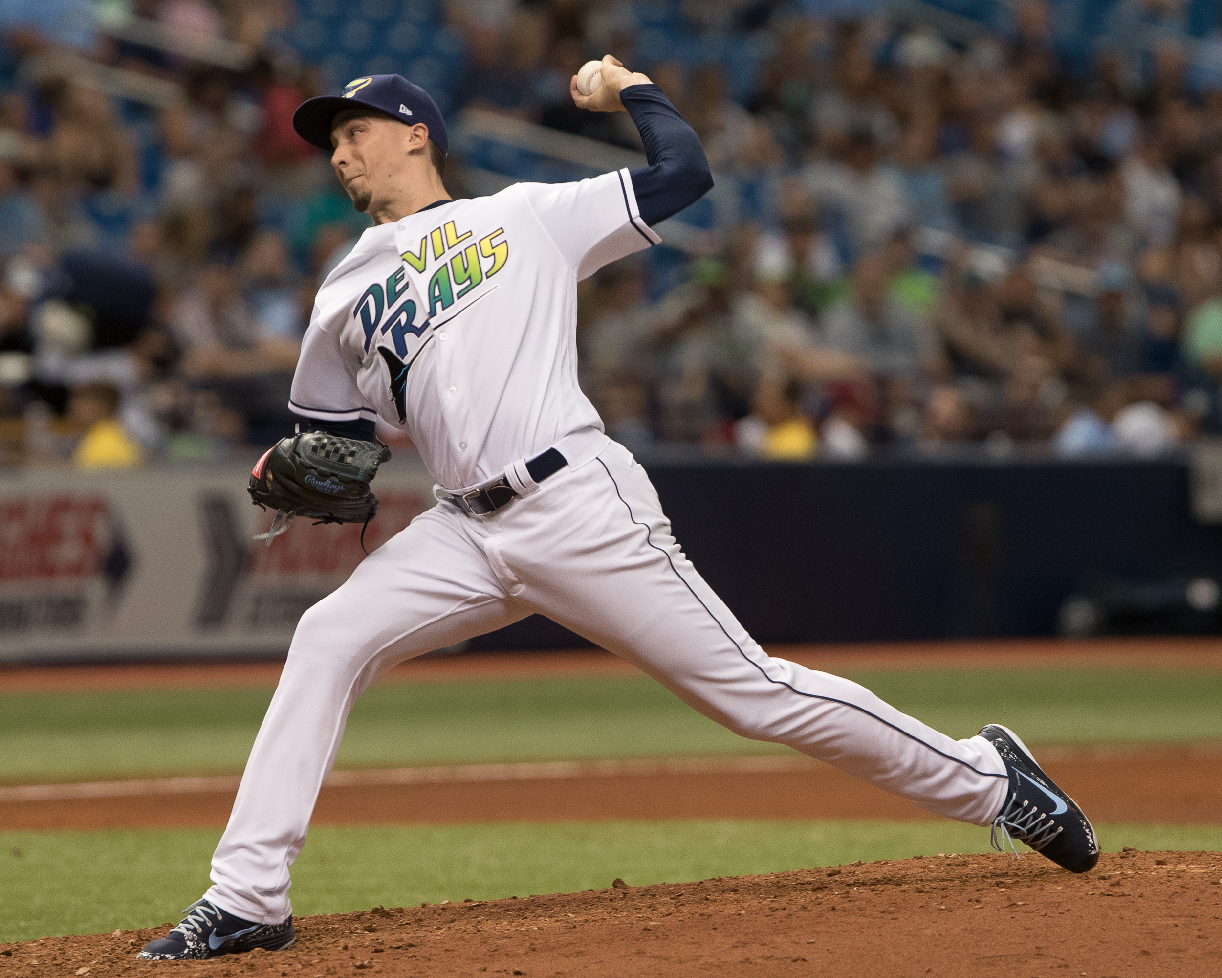 Blake Snell helped the Rays end an eight-game slide./STEVEN MUNCIE