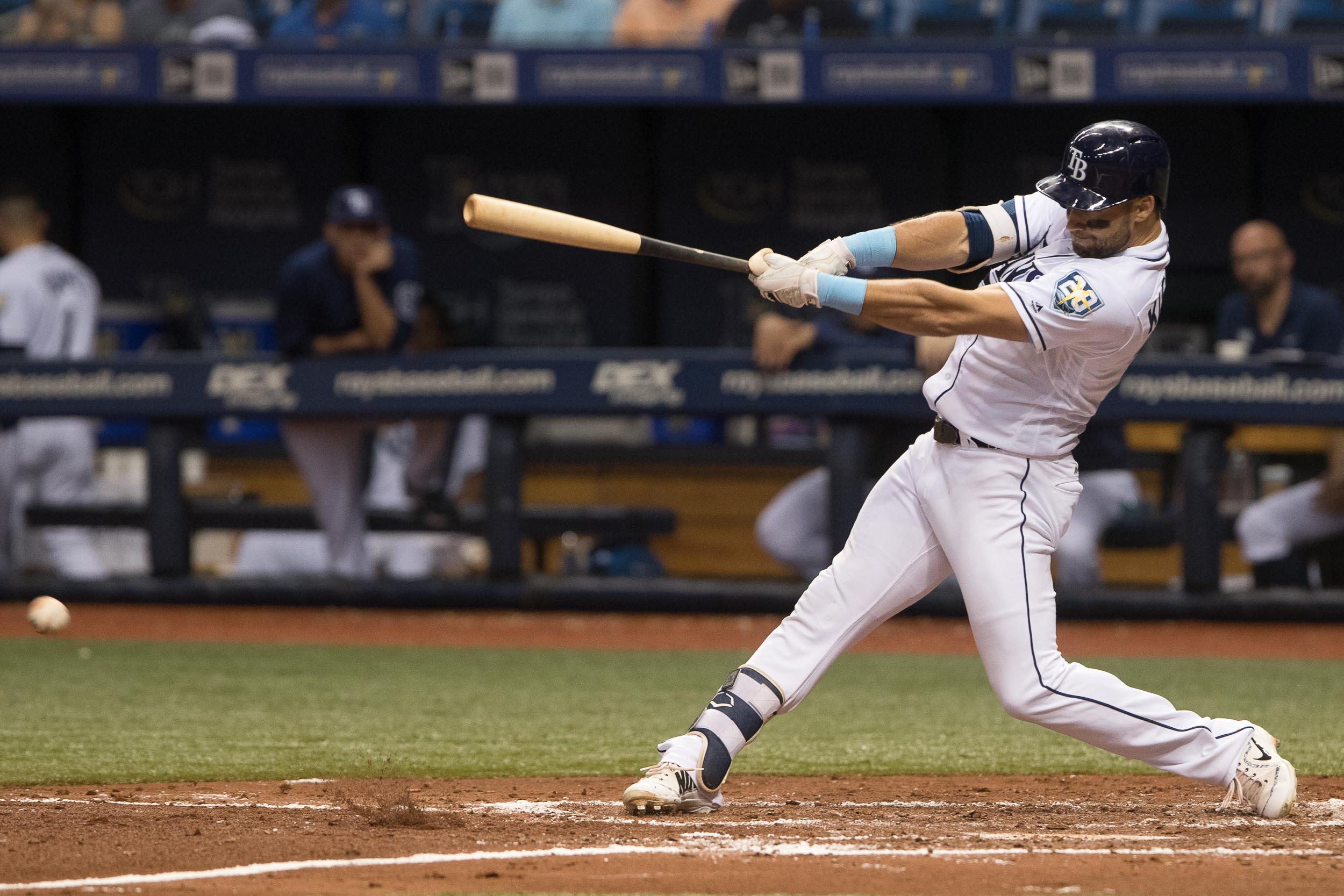 Two runs scored when Kevin Kiermaier reached on an error../STEVEN MUNICE