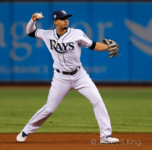 Adames stayed hot for Tampa Bay./JEFFREY S. KING