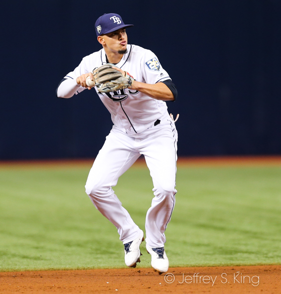 Adames played well in the field./JEFFREY S. KING