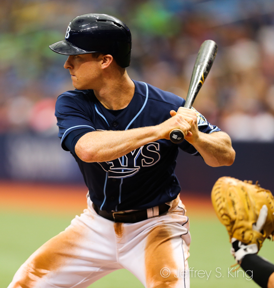 Wendle homered in the second inning for Rays./JEFFREY S. KING
