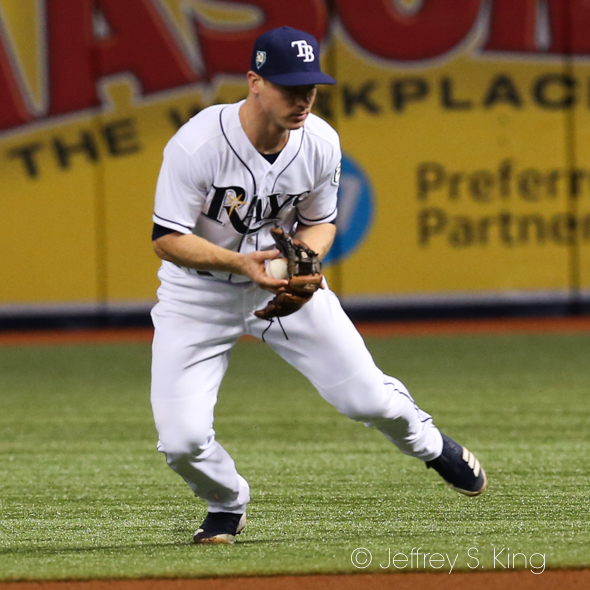 Wendle continued to play well for Rays./JEFFREY S. KING