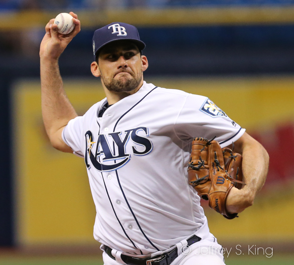 Eovaldi pitched well, but the bullpen faltered./JEFFREY S. KING
