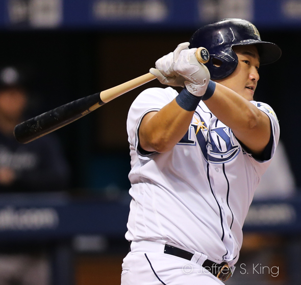 Choi has been a hot streak for Rays./JEFFREY S. KING