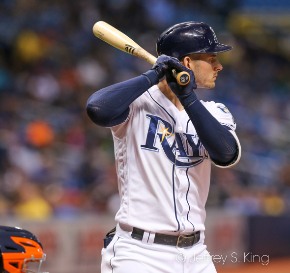 Robertson gave the Rays their fifth walkoff win./JEFFREY S. KING