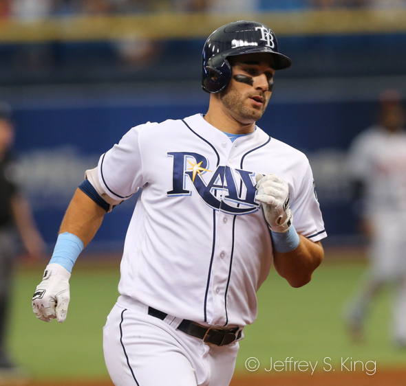 Kiermaier scored the Rays' first run of the game../JEFFREY S. KING