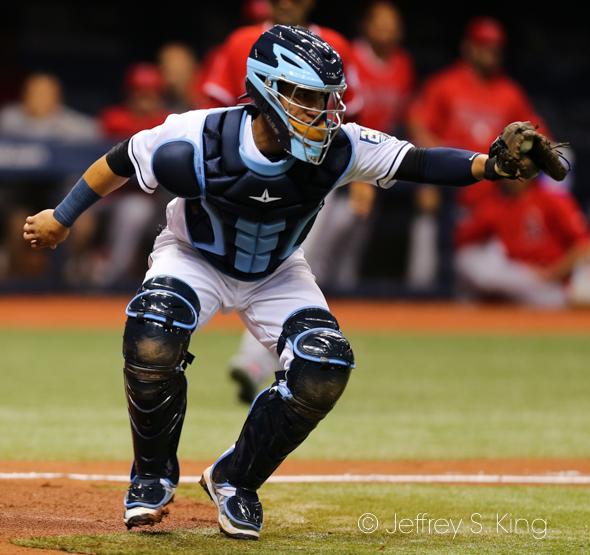 Catcher Michael Perez is hitting .500 so far./JEFFREY S. KING