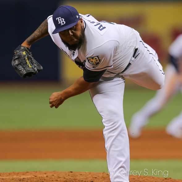 Alvarado has seven saves for the Rays../JEFFREY S. KING