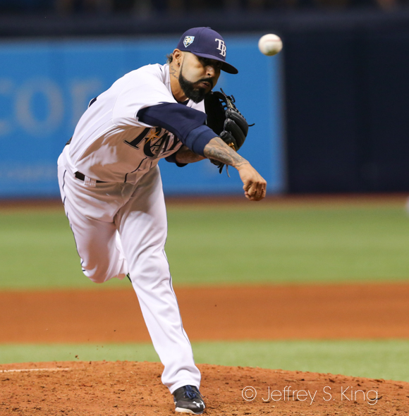 Romo leads the Rays in saves./JEFFREY S. KING