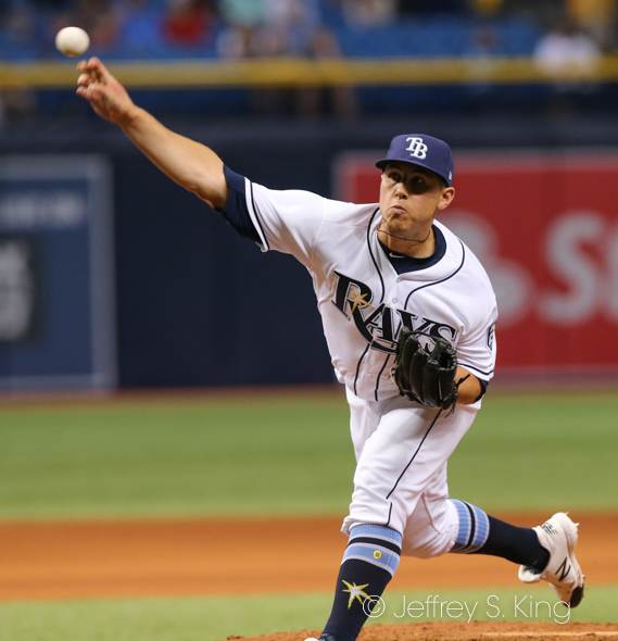 Jamie Schultz had a scoreless outing for Tampa Bay./JEFFREY S. KING