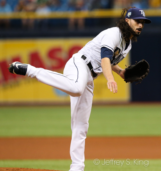 Wood was the Rays' 14th starting pitcher./JEFFREY S. KING