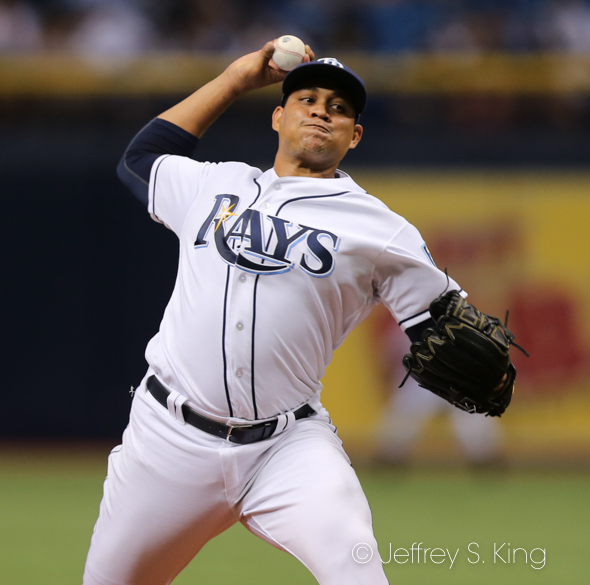 Chirinos struggled for the Rays./JEFFREY S. KING