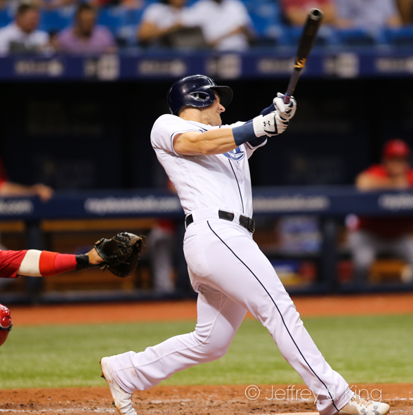 Bauers homered for the Rays./JEFFREY S. KING