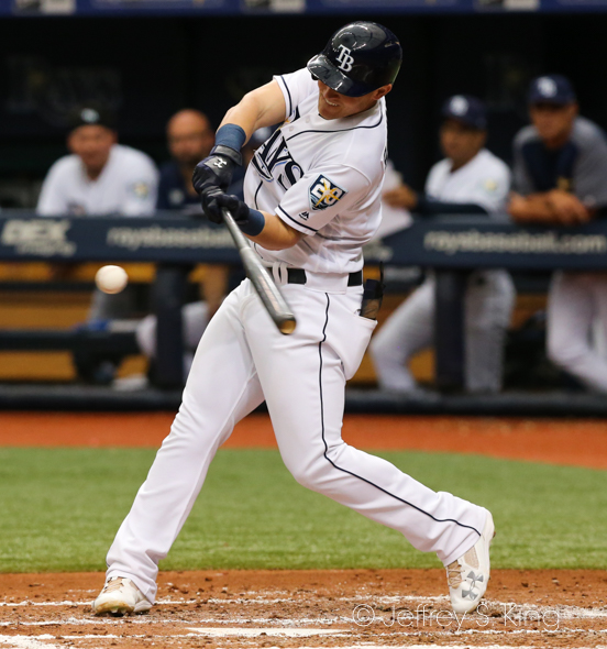 Bauers had the Rays' biggest hit of all./JEFFREY S. KING