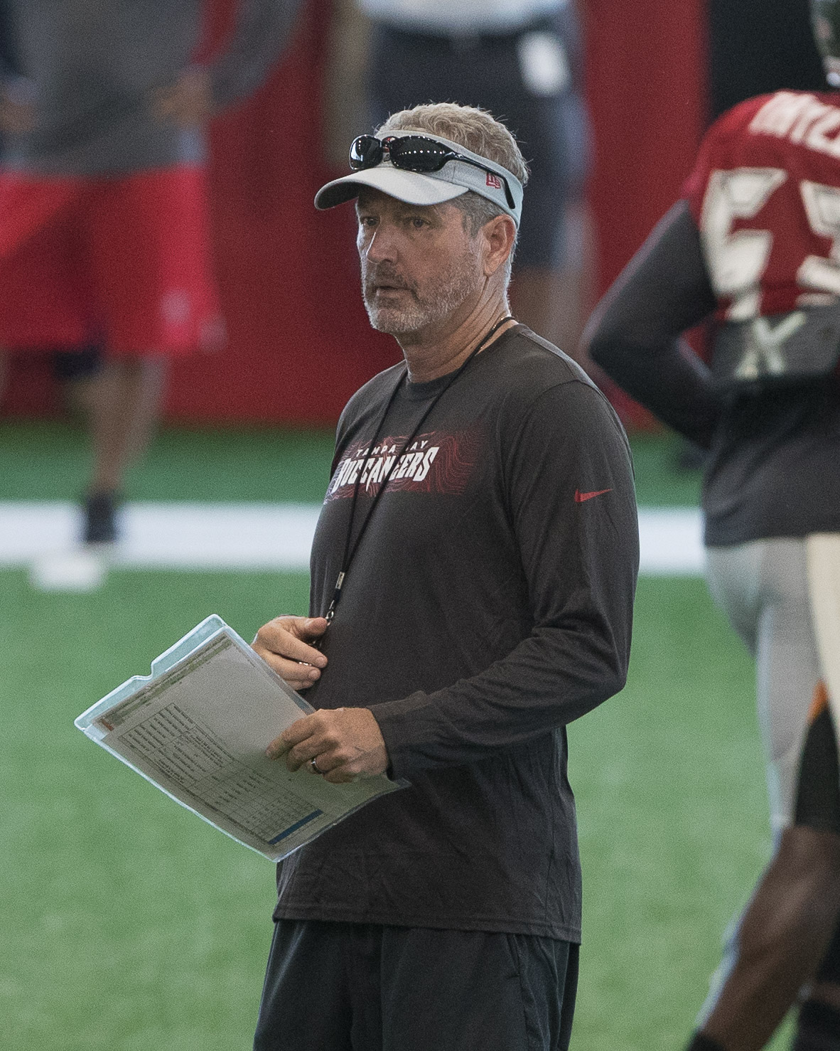 Koetter watches his players work./STEVEN MUNCIE