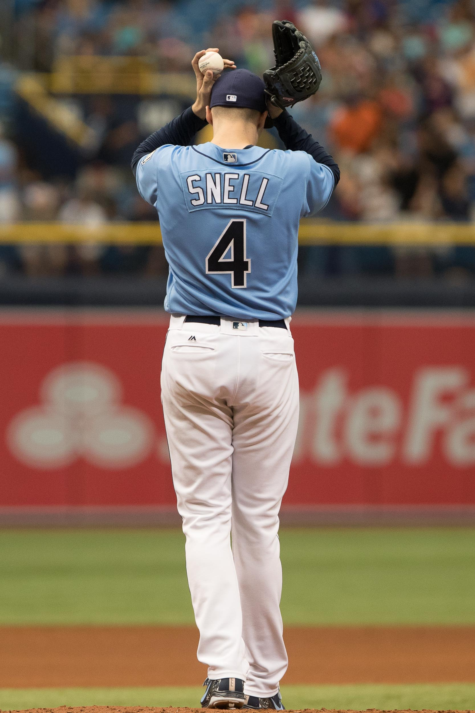 Blake Snell is among the AL leaders in pitching./STEVEN MUNCIE