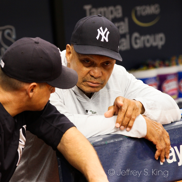 Mr. October, Reggie Jackson, looks on for Yankees./JEFFREY S. KING