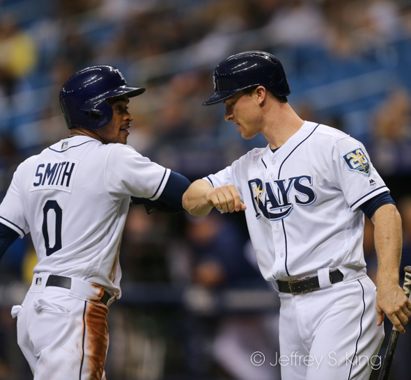 Smith and Wendle lead the Rays' hitters again./JEFFREY S. KING