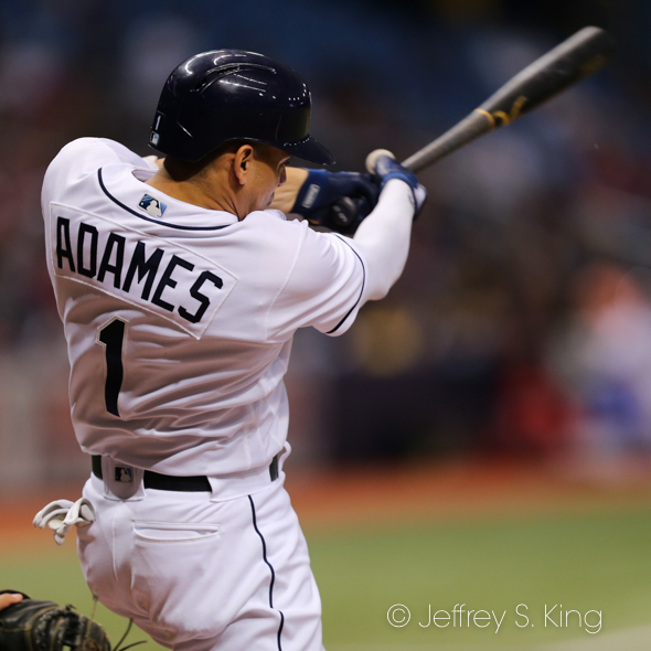 Adames accounted for the Rays' only run./JEFFREY S. KING