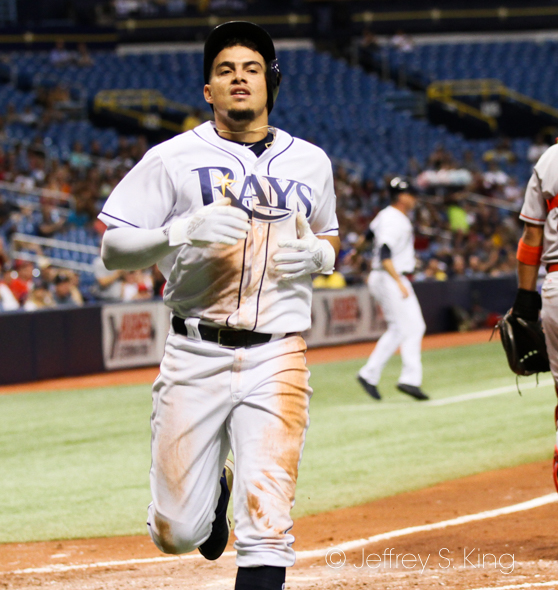 Adames had a homer and a single for the Rays./JEFFREY S. KING