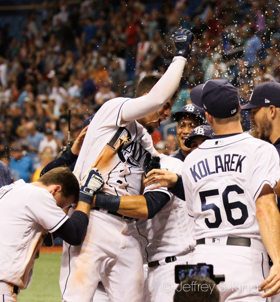 The Rays have won seven walk-offs, including four by home runs./JEFFREY S. KING