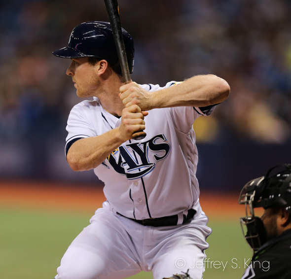 Wendle drove in three runs for the Rays./JEFFREY S. KING
