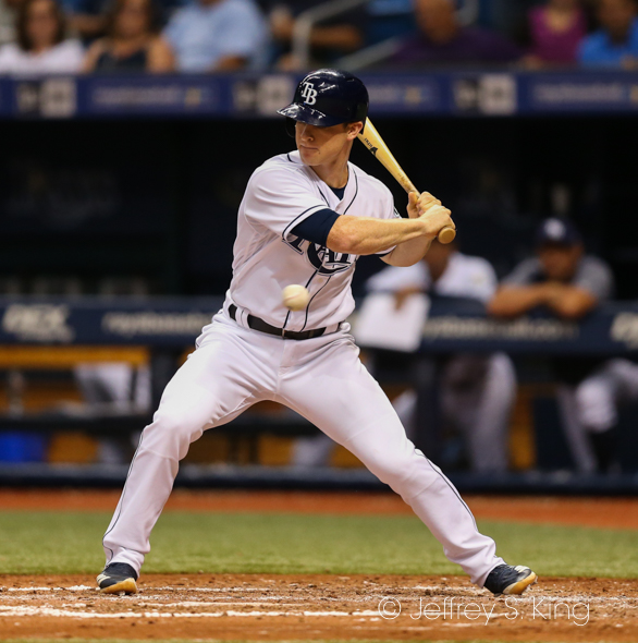 Wendle led off the game with a single, but the Rays go only one more./JEFFREY S. KING